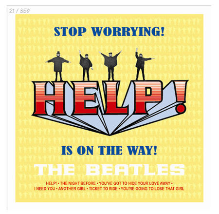 The Beatles: Help! Limited Edition Hand Numbered Lithographic Print