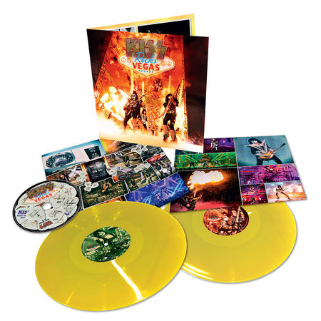 Kiss: Rocks Vegas: Limited Edition Double Yellow Gatefold Vinyl