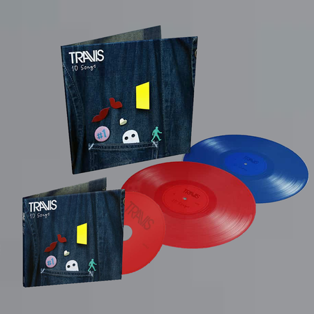 Travis: 10 Songs: Limited Red + Blue Double Vinyl 2LP, CD + Signed Art Card