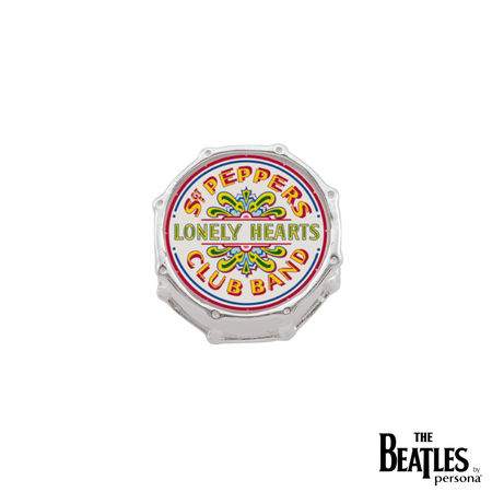 The Beatles: 925 Sterling Silver Sgt. Pepper Drum Head Charm