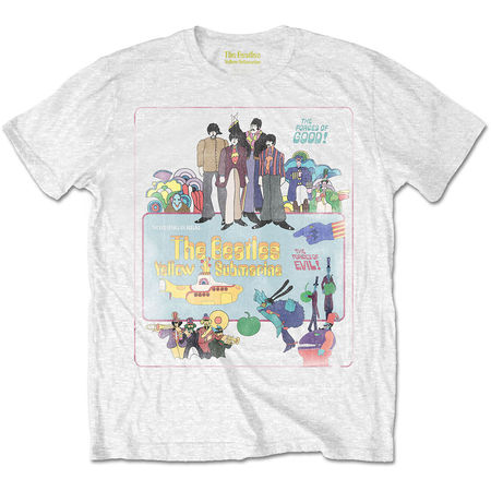 The Beatles: Yellow Submarine Vintage Movie Poster Off White T-Shirt