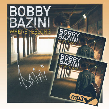 Bobby Bazini: Where I Belong (CD) + Download (MP3) + Autographed Lithograph