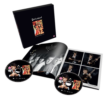 Ronnie Wood: Somebody Up There Likes Me: Deluxe Hardback Book, Blu-Ray & DVD Edition