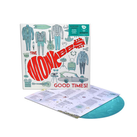 the monkees: Good Times!: Limited Edition Teal Marbled Vinyl