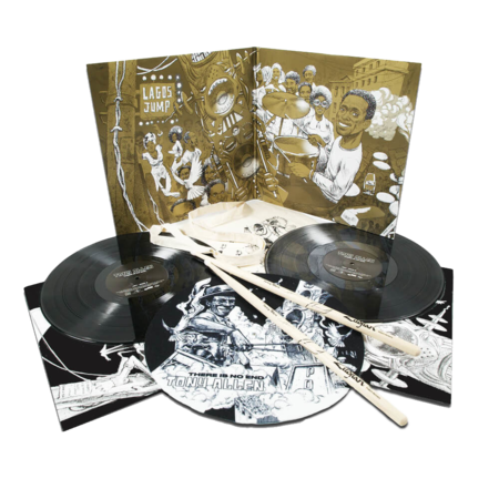 Tony Allen: There Is No End: Exclusive 2LP Vinyl Set + Tote, Slipmat, Drum Sticks + Poster