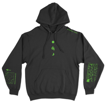 Dermot Kennedy: Wicklow Mountains Hoodie: Black / Green