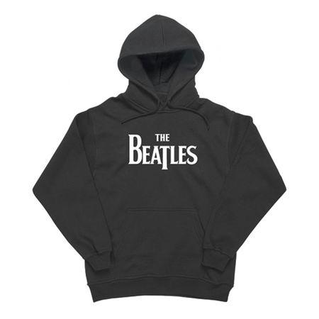 The Beatles: Drop T Logo Hoodie Black