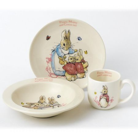 Flopsy, Mopsy and Cotton-tail: Flopsy, Mopsy and Cotton Tail 3 Piece Nursery Set