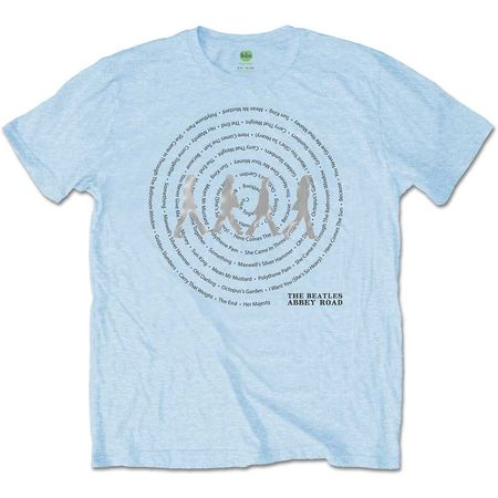 The Beatles: Abbey Road Songs Swirl T-Shirt
