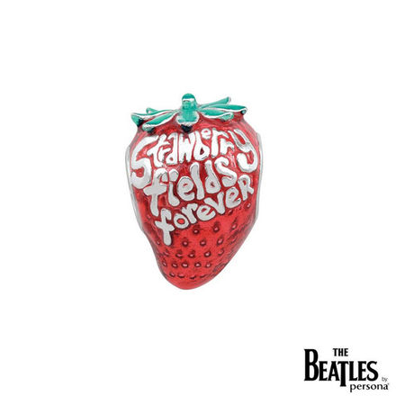 The Beatles: 925 Strawberry Fields Forever Strawberry Bead