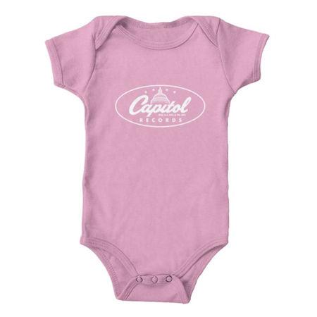 Capitol Records: Capitol Records - Classic Logo Onesie Pink Newborn