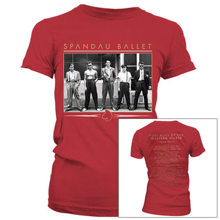 Spandau Ballet: Vintage Band Antique Cherry Womens T-Shirt