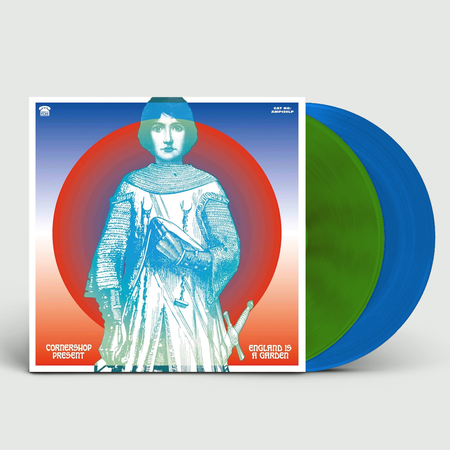 Cornershop: England Is A Garden: Signed Limited Edition Green + Blue Vinyl