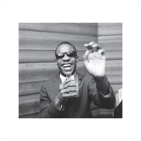 Motown: Store Exclusive Stevie Wonder Black and White 50x50cm Photo Print