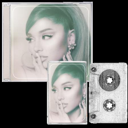 Ariana Grande: positions - cd + exclusive silver glitter cassette