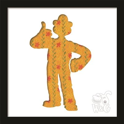 Wallace & Gromit: Wallace 'thumbs up' in the lounge Black Frame