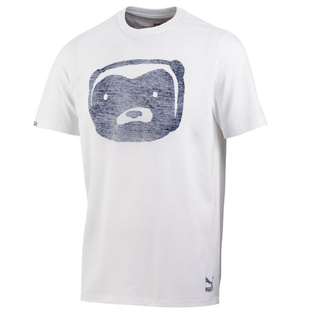 Professor Green: Honey Badger Ghost T-Shirt White + Medievil Blue