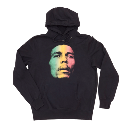 Bob Marley: Washed Gradient Face Hoodie