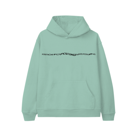 Ariana Grande: POSITIONS MINT HOODIE