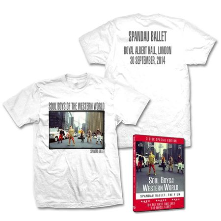 Spandau Ballet: Soulboys Albert Hall T-Shirt And Triple DVD Bundle