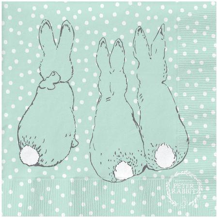 Peter Rabbit: Peter Rabbit Contemporary Napkin (Cotton-Tail Polka Dot)