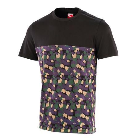 Professor Green: Camo Panel T-shirt Black