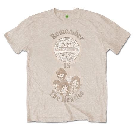 The Beatles: The Beatles Remember Mens Sand T-shirt