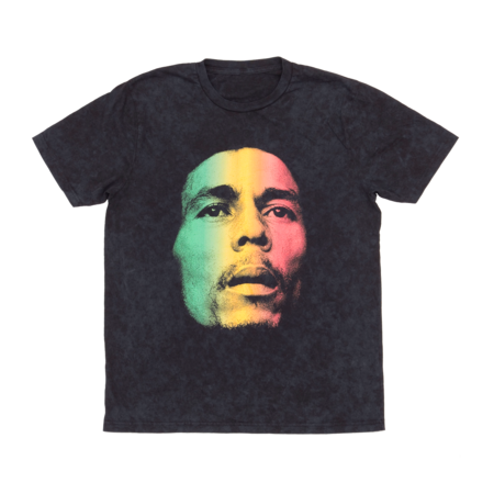 Bob Marley: Washed Gradient Face Tee