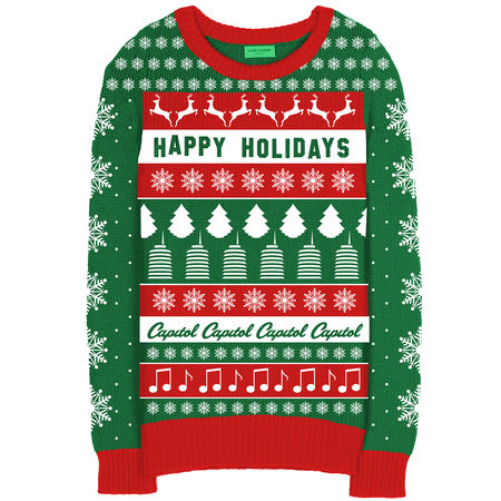 Capitol Records: Capitol Records - Christmas Sweater Small