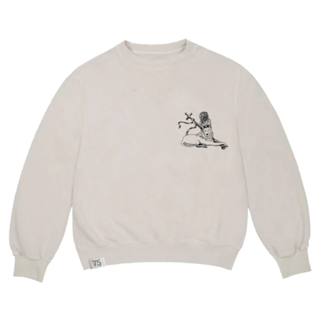 Bob Marley: Embroidered 75 Crew Sweatshirt