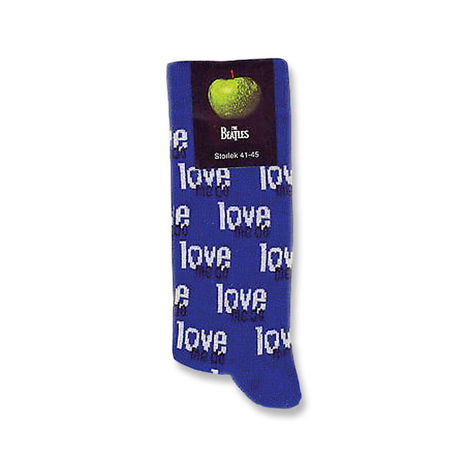 The Beatles: Love Me Do Mens Blue Socks