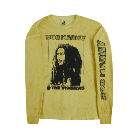 Bob Marley: Profile Frame Kaya Yellow Long Sleeve Shirt