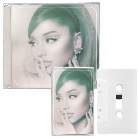 Ariana Grande: positions - cd + exclusive frosted ice white cassette