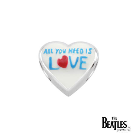 The Beatles: 925 All You Need Is Love Heart Bead