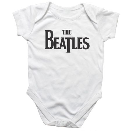 The Beatles: Drop T Logo Body Suit White