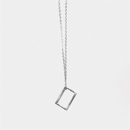 The 1975: THE 1975 SILVER NECKLACE