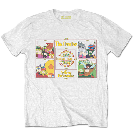 The Beatles: Yellow Submarine Sgt Pepper Band Off White T-Shirt