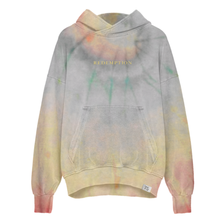Bob Marley: Washed Tie Dye Redemption Pullover Hoodie