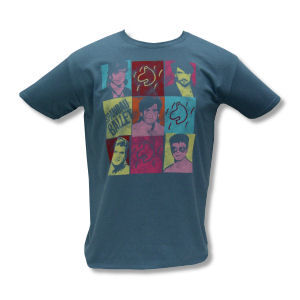 Spandau Ballet: Spandau Ballet Square Pictures on Dark Blue Tee