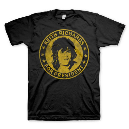 The Rolling Stones: THE ROLLING STONES - KEITH FOR PRESIDENT - SMALL T-SHIRT