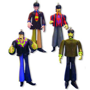 The Beatles: Yellow Submarine 4 Piece Ornament Set