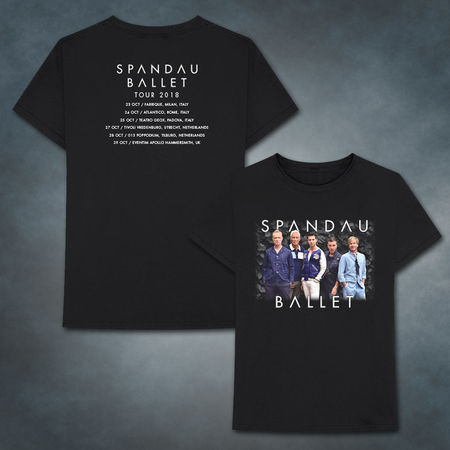Spandau Ballet: 2018 Dark Grey 2018 Tour T-Shirt
