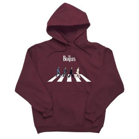 The Beatles: Abbey Road Characters Hoodie Maroon