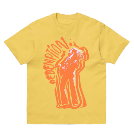 Bob Marley: Redemption Yellow Washed T-Shirt