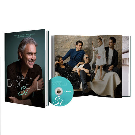 Andrea Bocelli: Exclusive Table Book + Deluxe CD