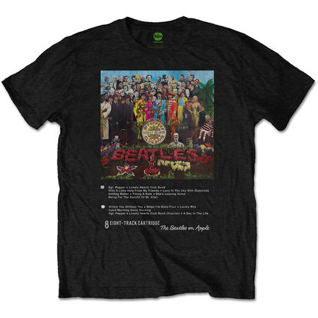 The Beatles: Sgt. Pepper 8 Track T-Shirt Small