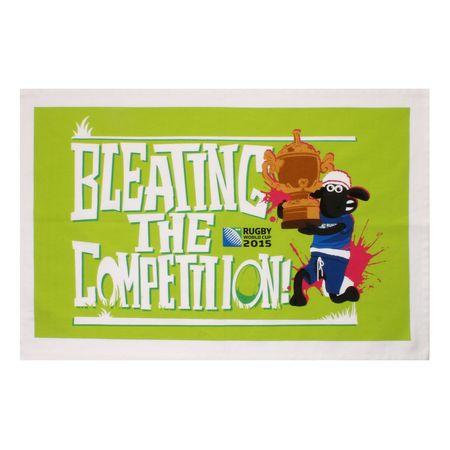 Shaun the Sheep: RWC 2015 Bleating The Competiton Tea Towel