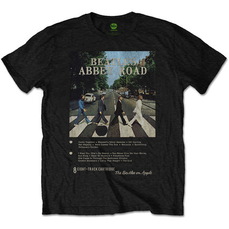 The Beatles: Abbey Road 8 Track T-Shirt XLarge