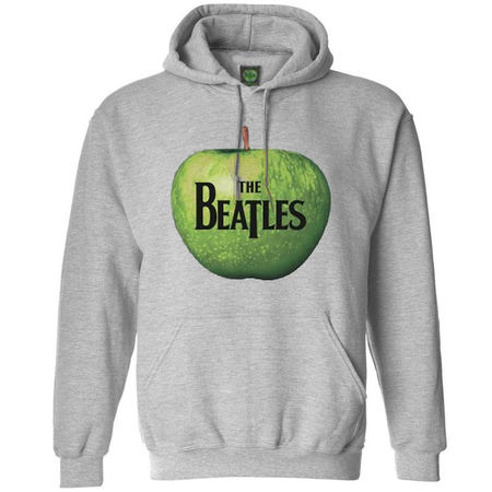The Beatles: Hooded Top: Apple (Grey)