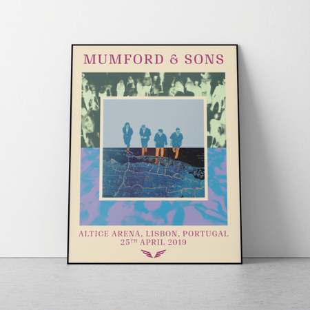 Mumford & Sons : European Delta Tour Print 2019